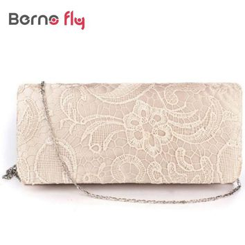 Fashion Lace Floral Day Pouch Clutches Bridal Wedding Lady Evening Bags Women Shoulder Messenger Bag Purse Party Girl Handbags