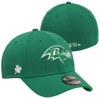 New Era Baltimore Ravens St. Patrick's Day Graf Pop 39THIRTY Flex Hat - Kelly Green