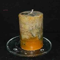 Blueberry Scented Round Candle with Orange Scented Butterfly Embeds
