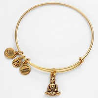 Alex and Ani 'Buddha' Expandable Wire Bangle