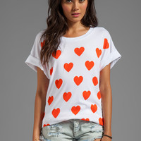 Wildfox Couture Falling in Love Favorite Tee in Clean White from REVOLVEclothing.com