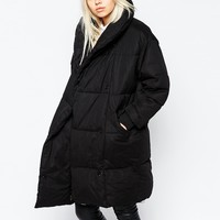 Monki Quilted Oversized Coat