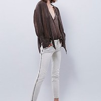 Free People Womens Levon Zipper Skinny