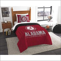 """Alabama OFFICIAL Collegiate, Bedding, """"""""Modern Take"""""""" Twin Printed Comforter (64""""""""x 86"""""""") & 1 Sham (24""""""""x 30"""""""") Set  by The Northwest Company"""
