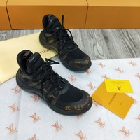 Ready Stock Lv Louis Vuitton Men's Leather Fashion Sneakers Shoes #998