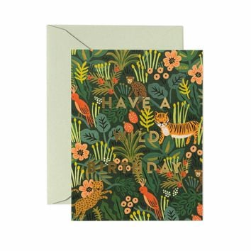 Wild Birthday Greeting Card by RIFLE PAPER Co.   Made in USA