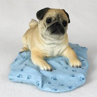 PUG FAWN MY DOG FIGURINE