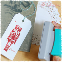 Nutcracker Stamp - Self Inking Stamp / Pre-inked Stamp. Christmas Gift, Holidays, Festive Stamp (P2365)