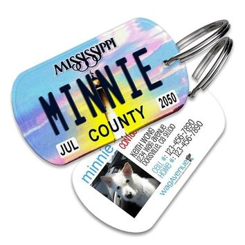 Mississippi License Plate Pet Tag