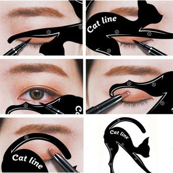 1 Pc New Cat Line Eye Makeup Eyeliner Stencils