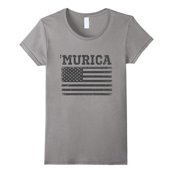 Subdued US Flag 'Murica T-Shirt
