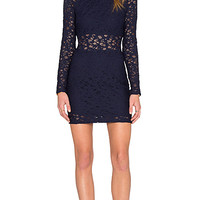 Crochet Mini Dress in Midnight