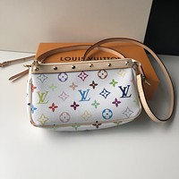 LV Louis Vuitton WOMEN'S MONOGRAM CANVAS VINTAGE INCLINED SHOULDER BAG