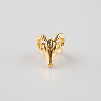 Black Scale Ram Head Ring Gold One Size For Men 25553562101