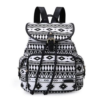 School Backpack ECOSUSI New Women Backpack Canvas School Bag For Teenagers Girls Printing Travel Rucksack Female Large Space Backpack Sac A Dos AT_48_3