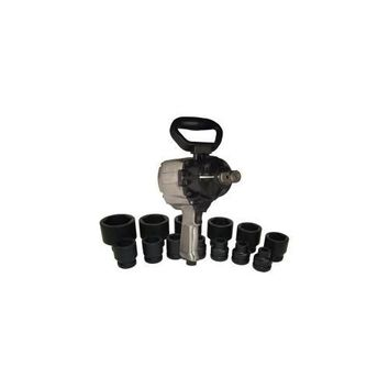 """Air Impact Wrench 1"""" Dr with 13pc SAE Socket Set"""