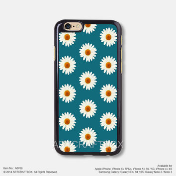 Daisy Flower Floral Teal iPhone 6 6Plus case iPhone 5s case iPhone 5C case iPhone 4 4S case 769