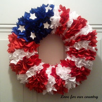 Patriotic 12 wreath by DoorDeco on Etsy