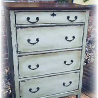 Distressed Antique dresser, shabby chic dresser, off white dresser, dresser, Rustic dresser, dresser, painted dresser, painted furniture