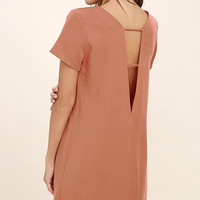 Mumbai the Way Terra Cotta Shift Dress
