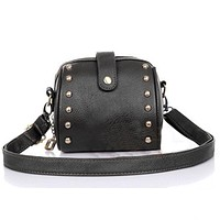Women Shoulder Bags Leather Luxury Women's Crossbody Message Bag Handbags Famous Brand Satchel Pouch Female Camera Bags Rivets