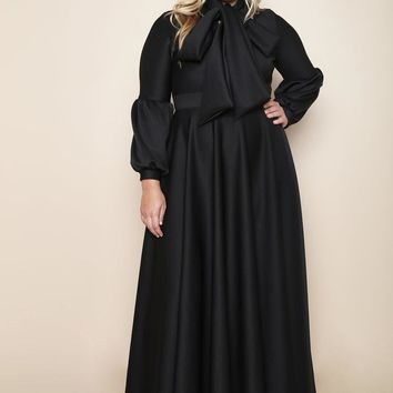 Like A Queen Black Holiday Plus Size Maxi Dress