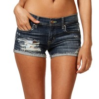 SALE-Denim Low Rise Distressed Shorts