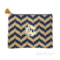 Monogrammed Shimmer Juco Carry All Case | Marleylilly