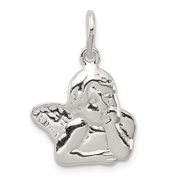 925 Sterling Silver Angel Charm and Pendant