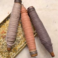 BF2011 - Trio of Antique Decorative Yarn Spools - $15 - The Bella Cottage