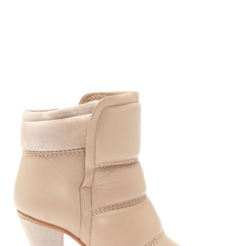 Chlo Taupe Quilted Leather And Suede Ankle Boots