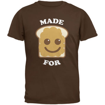 Couples Peanut Butter Sandwich Brown Adult T-Shirt