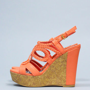 Laguna Beach Wedge - Peach