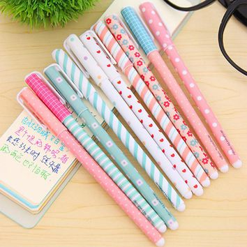 10 Pcs/lot Color Gel Pen Kawaii Stationery
