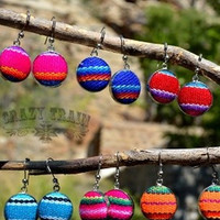 Southern Serape Button Earrings