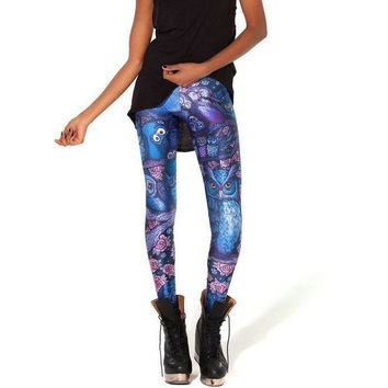 Atomic Midnight Owl Leggings