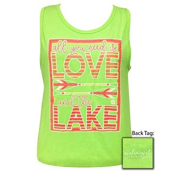 Girlie Girl Originals Preppy Love And The Lake Tank Top