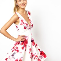 ASOS Rose Watercolour Skater Dress