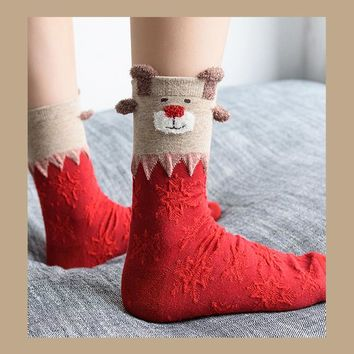 Christmas Socks|Red Elk