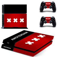 ps4 skin sticker of AMSTERDAM for Sony PS4 PlayStation 4 and 2 controller skins