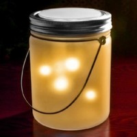 Fairy Jar Solar Powered Lights - Yellow