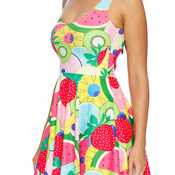 TUTTI FRUTTI SCOOP SKATER DRESS - LIMITED