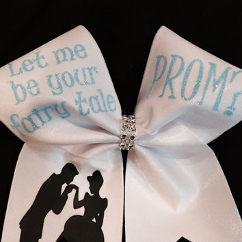 Prom proposal cheer bow