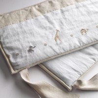 Embroidered Safari Crib Bumper