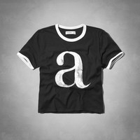 a&f cropped graphic tee
