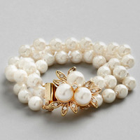 ModCloth Vintage Inspired Give it a Pearl Bracelet