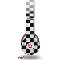 Checkered Canvas Black and White Decal Style Skin (fits genuine Beats Solo HD Headphones - HEADPHONES NOT INCLUDED):Amazon:Everything Else