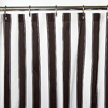 Black And White Striped Shower Curtain From