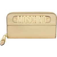 MOSCHINO - Metal logo leather wallet | Selfridges.com