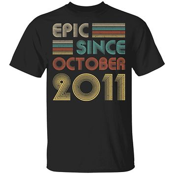 Epic Since October 2011 Vintage 9th Birthday Gifts Youth